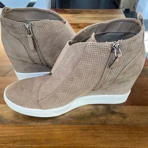Mia Suede Wedge Sneakers